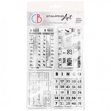 """Clear Stamp Set 4""""x6"""" Home for the Holidays"""