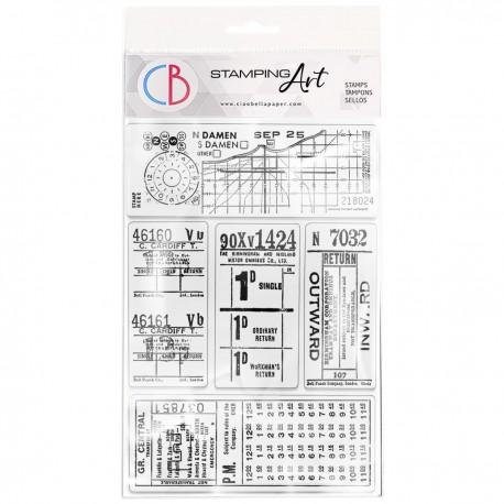 "Clear Stamp Set 4""x6"" Tickets II"