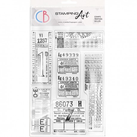 """Clear Stamp Set 6""""x8"""" Tickets"""
