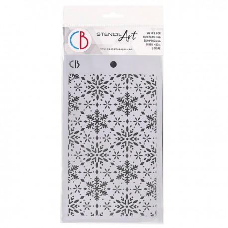 "Texture Stencil 5""x8"" Snowflakes"