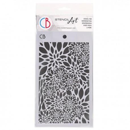 """Texture Stencil 5""""x8"""" Poinsettia"""