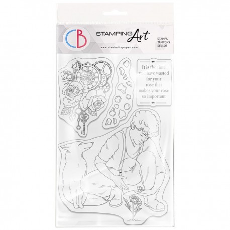"""Clear Stamp Set 4""""x6"""" The Rose"""