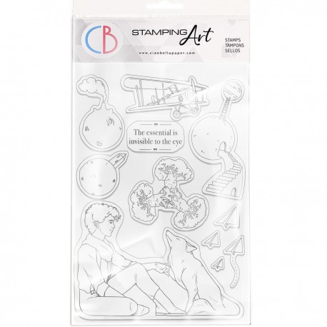"""Clear Stamp Set 6""""x8"""" The Essential is Invisible"""