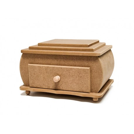 Caja combada con cajón