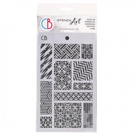 """Texture Stencil 5""""x8"""" Patchwork"""