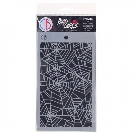 """Texture Stencil 5""""x8"""" Spider Net II"""
