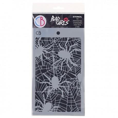 """Texture Stencil 5""""x8"""" Spiders"""