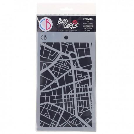 "Texture Stencil 5""x8"" City Map"