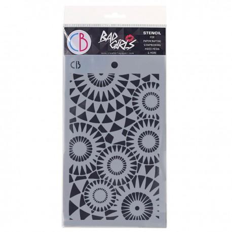 """Texture Stencil 5""""x8"""" Concentric points"""