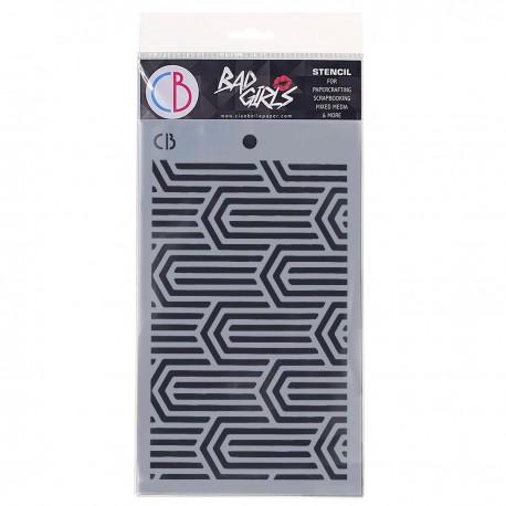 "Texture Stencil 5""x8"" Paper Clips"