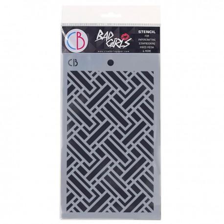 """Texture Stencil 5""""x8"""" Labyrinth"""