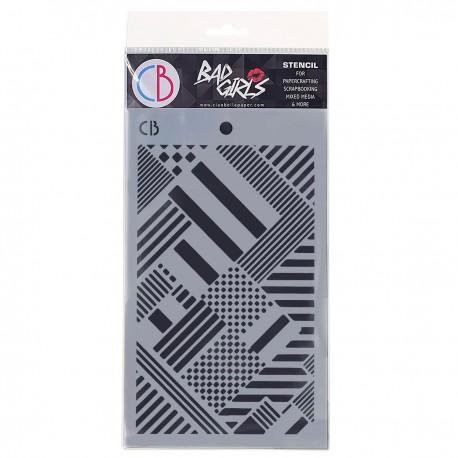 "Texture Stencil 5""x8"" Mondrian"