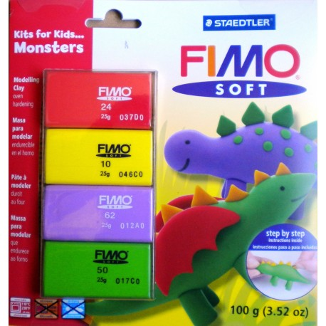 KIT INICIACION FIMO MONSTRUOS