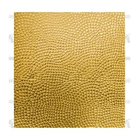 Planchas aluminio oro troqueladas 58x35