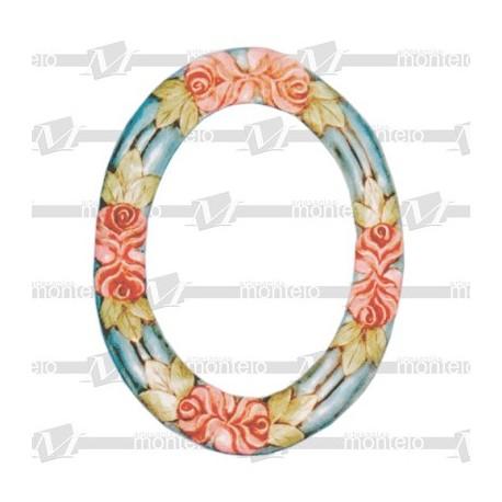Marco ovalado flores