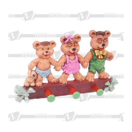 Perchero osos relieve