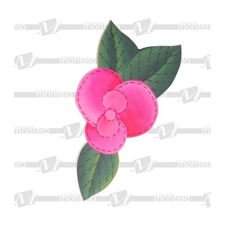 Silueta flor pequeña