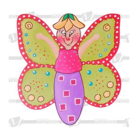 Silueta mariposa mediana