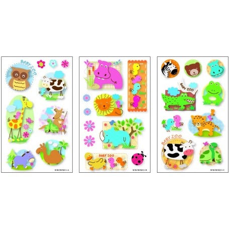 STICKERS 3D Animales