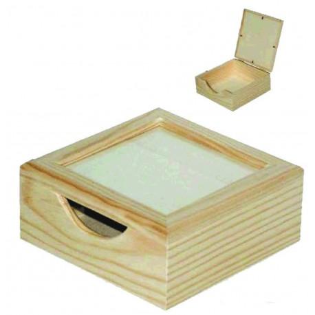 Caja Servilletero con Cristal
