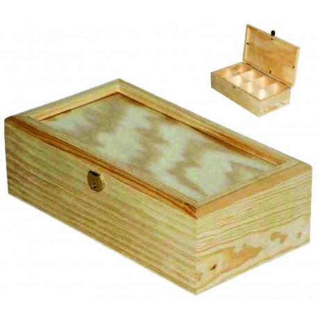 Caja para Té con Cristal