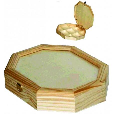 Caja Octangonal con Cristal
