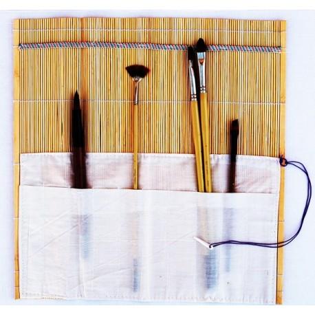 Portapinceles en Bambú