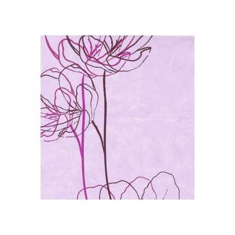 Papel de Flores Lila