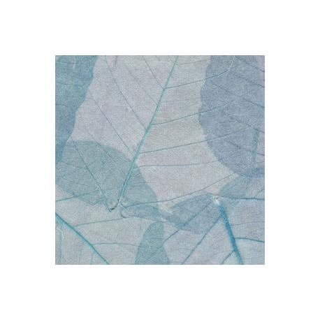 Papel de Hojas Azul Claro