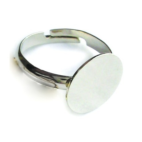 Anillo con Disco 11mm, Plata