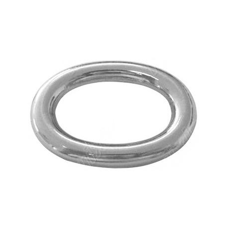 Anillo Ovalo 9,5x7x1,2mm, Plata