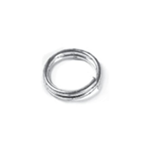 Anillo Doble Estampado 10x1mm, Plata
