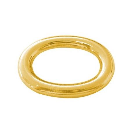 Anilla Ovalo 8x5,7x1mm, Oro