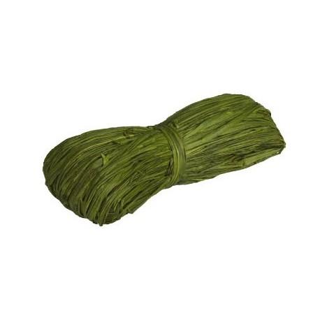 Rafiia 100% Natural 25g, Verde Musgo