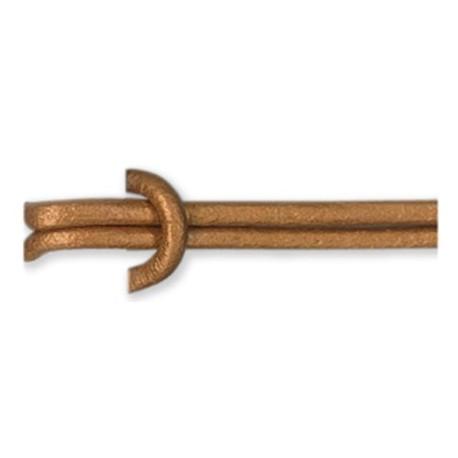 Cordón de Cuero 1,5mm METALIZADO Nº22