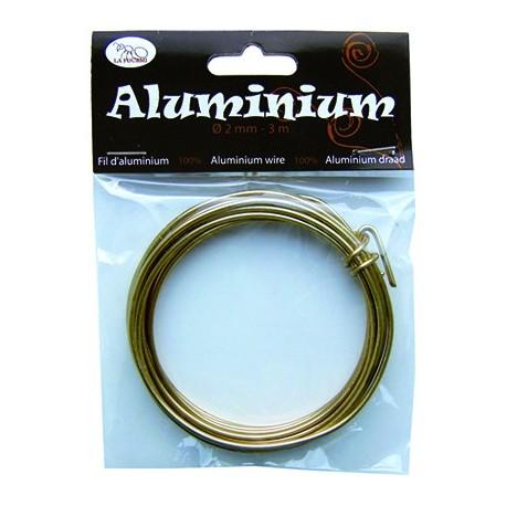 Alambre de Aluminio 2mm Oro
