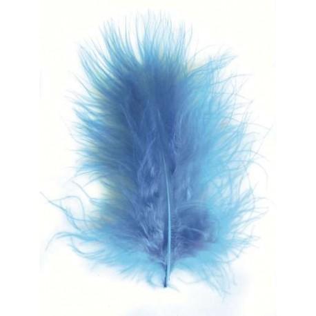 Plumas de Marabou, Azul Claro