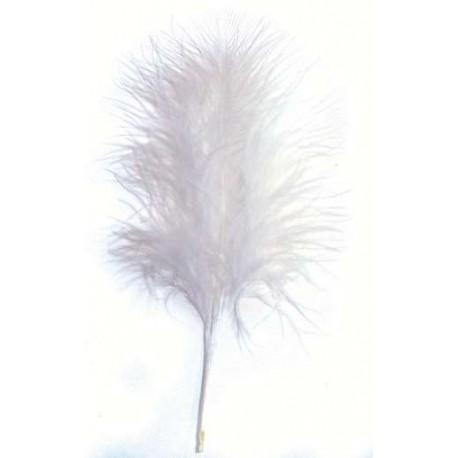 Plumas de Marabou, Blanco