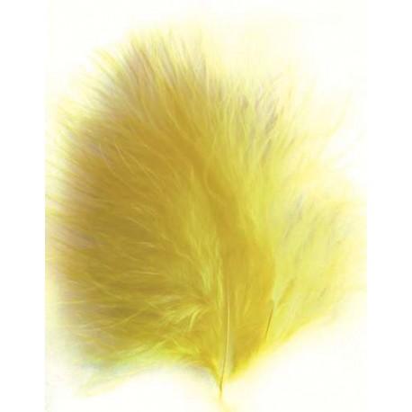 Plumas de Marabou, Amarilla