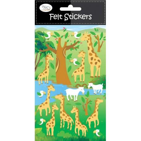 Stickers en Fieltro Girafas