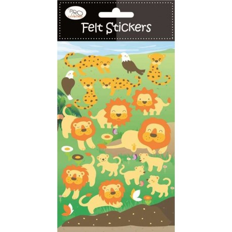 Stickers en Fieltro Leones