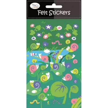 Stickers en Fieltro Caracoles