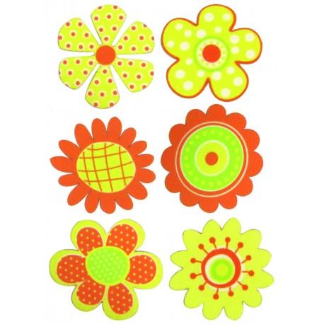 Stickers Entelados Flores I