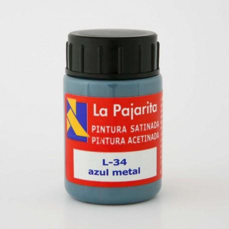 Pintura Satinada, Azul Metal