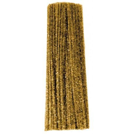 Limpiapipas Metálicos Color Oro (100pzs)