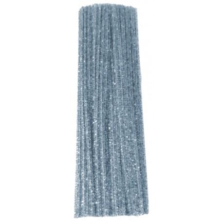 Limpiapipas Metálicos Color Plata (100pzs)