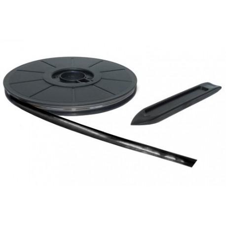 Rollo plomo adhesivo color negro de 10 metros