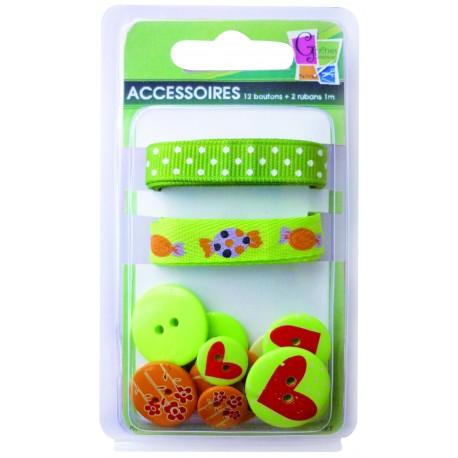 Botones y cintas