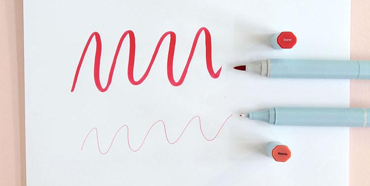 Rotuladores de doble punta Spectrum Noir AQUA. Lettering en Artesanías Montejo