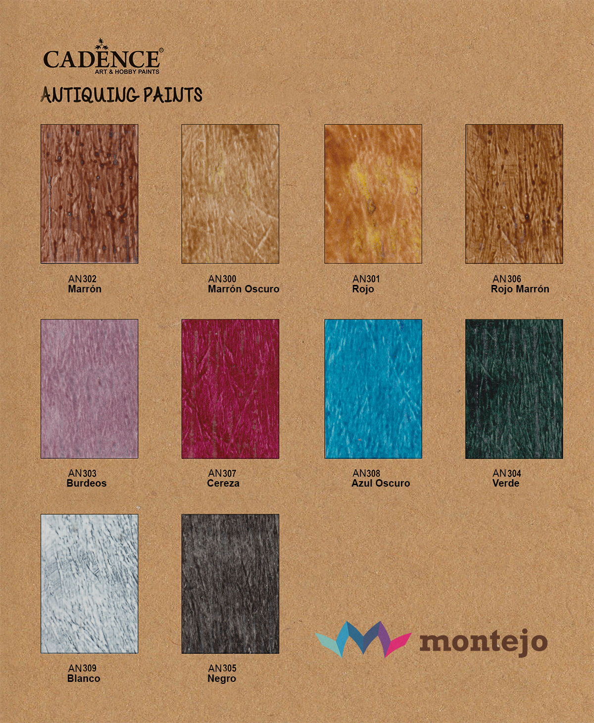 Carta de color Antiquing Paint